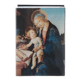 Scatola cartapesta russa La Madonna del Libro 7X5 cm s4