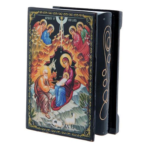 Caja laca rusa El Nacimiento de Jesús Cristo 9x6 cm 2