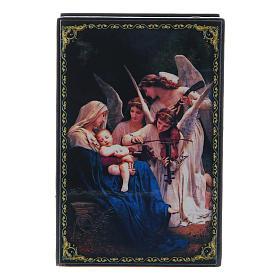 Lacca russa papier machè Il Canto degli Angeli 9X6 cm s1