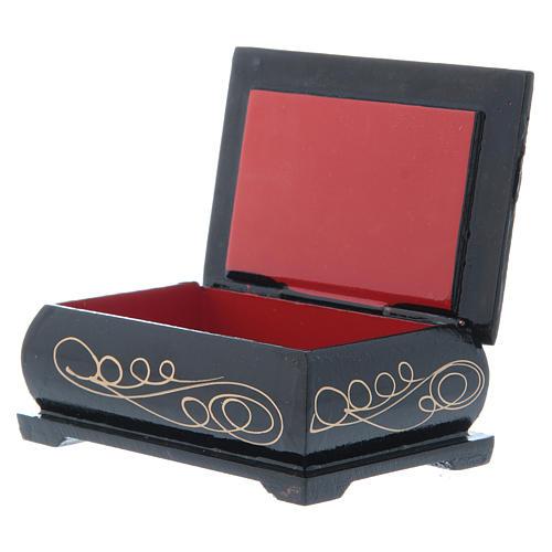 Russian lacquer box, Nativity of Christ 9x6 cm 3