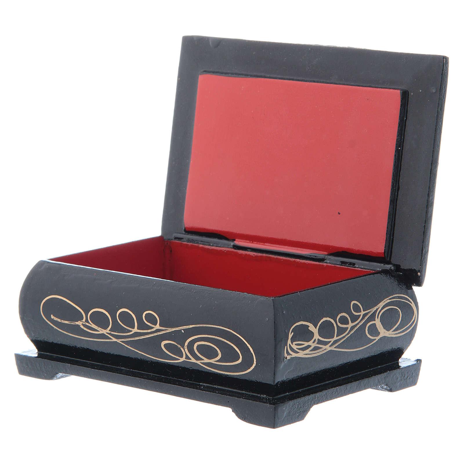 Russian lacquer box, The Nativity 9x6 cm 4