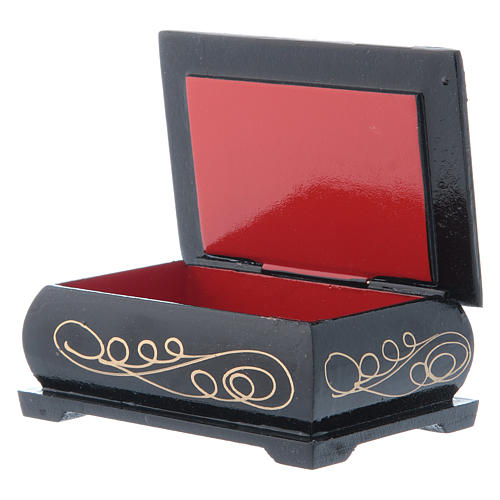 Russian lacquer box, Gerburt Christi (The Nativity) 9x6 cm 3