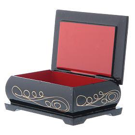 Russian lacquer box, Nativity scene 9x6 cm s3