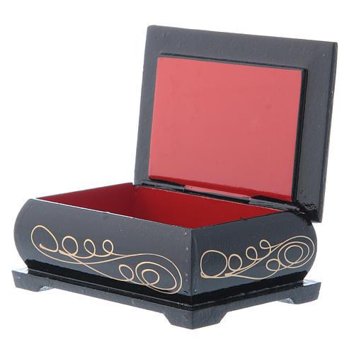 Russian lacquer box, Nativity scene 9x6 cm 3