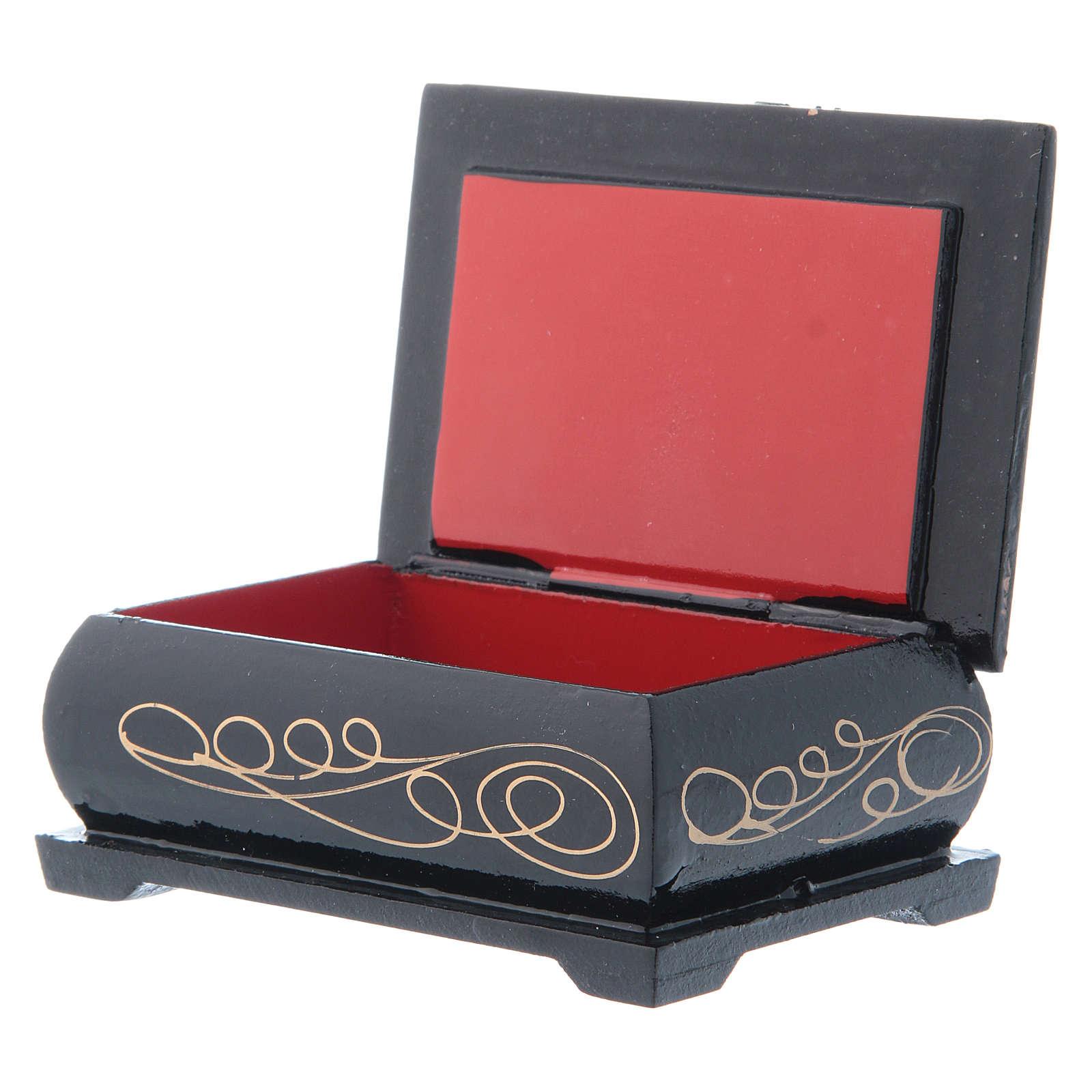 Russian lacquer box, Noël 9x6 cm 4