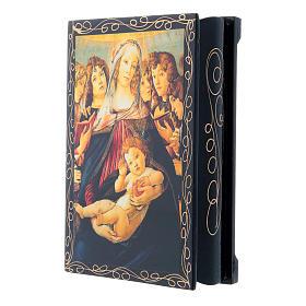 Lacca cartapesta russa La Madonna della melagrana 14X10 cm s2