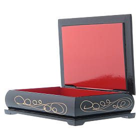 Enamel box, Nativity 14x10 cm s3