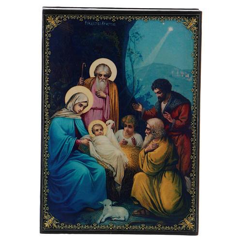 Lacquer box, Nativity scene 14x10 cm 1
