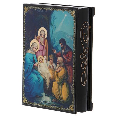 Lacquer box, Nativity scene 14x10 cm 2