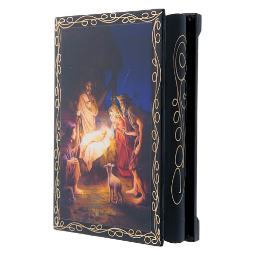 Lacquer box, Nativity 14x10 cm 2