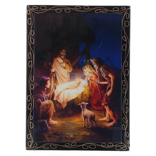Lacquer box, Nativity 14x10 cm 1