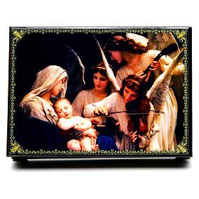 Boîte russe papier mâché Le Chant des Anges 14x10 cm s1