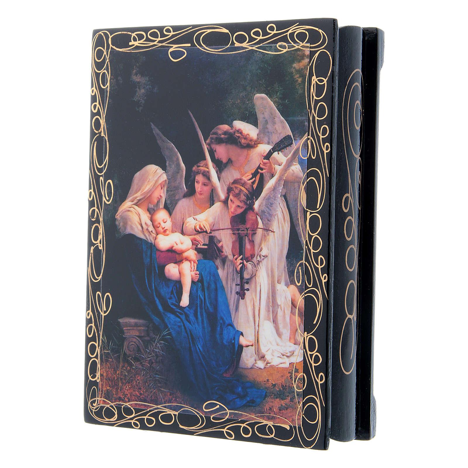 Scatoletta russa cartapesta Il Canto degli Angeli 14X10 cm 4