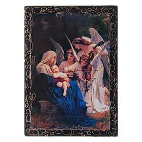 Scatoletta russa cartapesta Il Canto degli Angeli 14X10 cm s1
