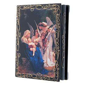 Scatoletta russa cartapesta Il Canto degli Angeli 14X10 cm s2