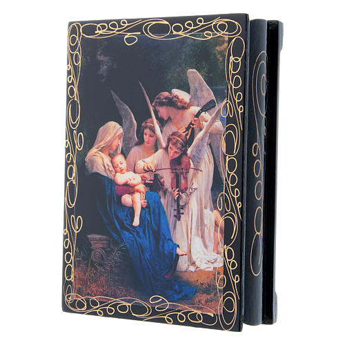 Scatoletta russa cartapesta Il Canto degli Angeli 14X10 cm 2