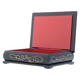 Russian lacquer box, Nativity 14x10 cm s3