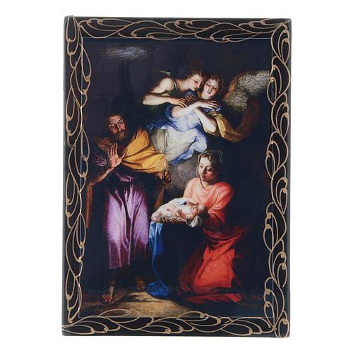 Scatola cartapesta russa decoupage Noël 14X10 cm 1