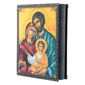 Papier-machè box with decorations The Holy Family 22X16 cm s2