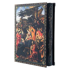 Scatola cartapesta dipinta L'Adorazione dei Magi 22X16 cm s2