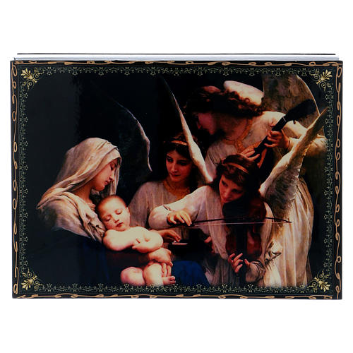 Decorated lacquer decoupage box The Chant of the Angels 22X16 cm 1