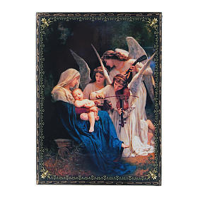 Lacca decorata decoupage  Il Canto degli Angeli 22X16 cm s1