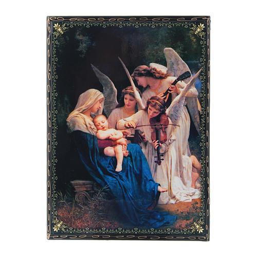 Lacca decorata decoupage  Il Canto degli Angeli 22X16 cm 1