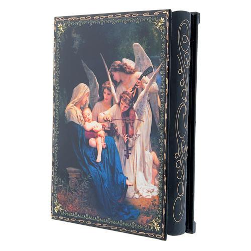 Lacca decorata decoupage  Il Canto degli Angeli 22X16 cm 2