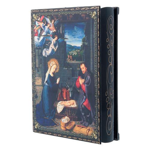 Lacca cartapesta decorata La Nascita di Gesù Cristo  22X16 cm 2