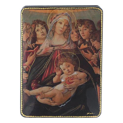 Scatola russa Papier-mâché Nascita Gesù Cristo Fedoskino style 15x11 1