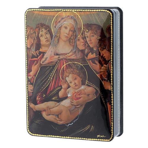 Scatola russa Papier-mâché Nascita Gesù Cristo Fedoskino style 15x11 2
