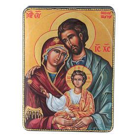 Lacca russa cartapesta Nascita Gesù Cristo Maestro Ignoto Fedoskino style 15x11 s1