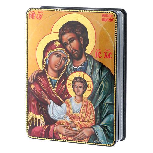 Lacca russa cartapesta Nascita Gesù Cristo Maestro Ignoto Fedoskino style 15x11 2