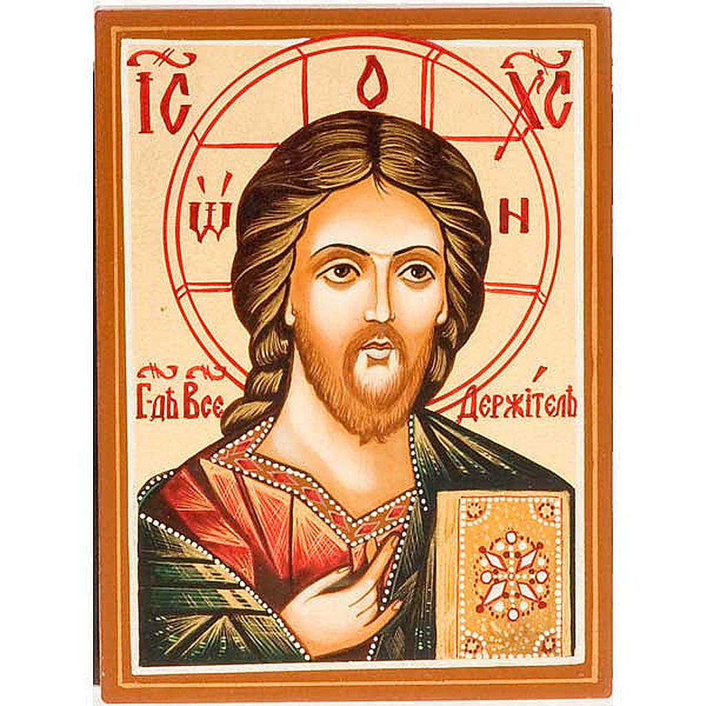 Icona  Cristo Pantocratico primo piano 4