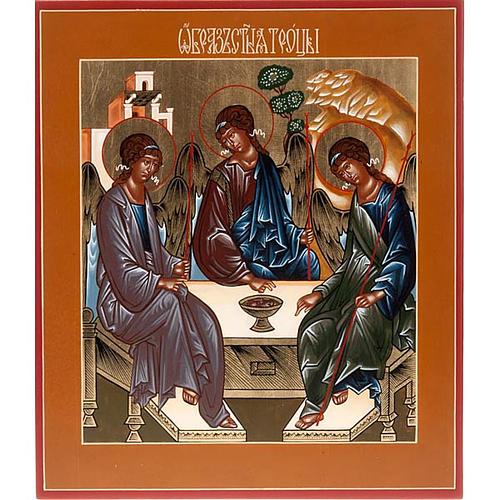 Icona SS Trinità di Rublev Russia cm 22x27 1