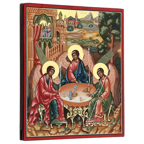 Icona SS Trinità di Rublev Russia cm 22x27 3