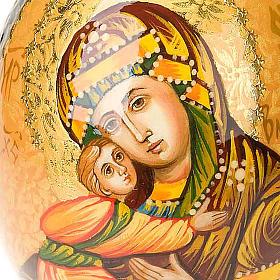 Uovo - icona Vergine di Vladimir manto marrone s4