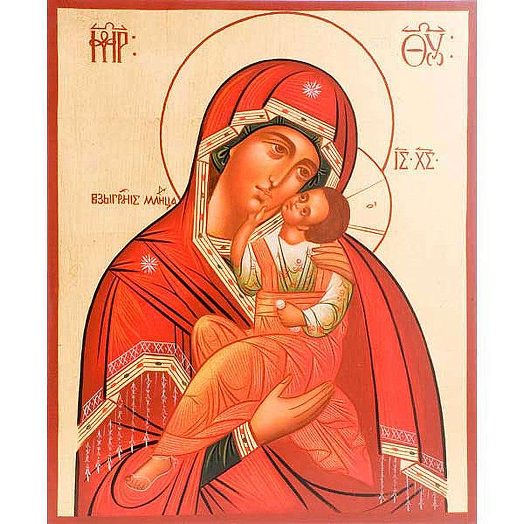 Icona Madre di Dio Clemente 30x36 cm 4
