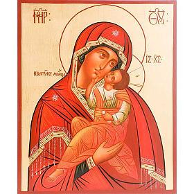 Icona Madre di Dio Clemente 30x36 cm s1