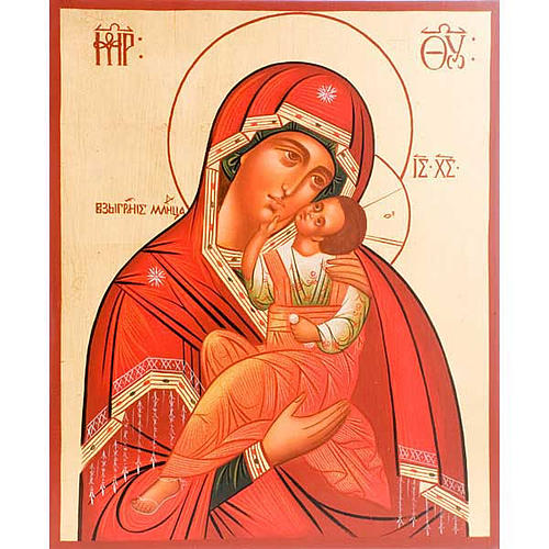 Icona Madre di Dio Clemente 30x36 cm 1