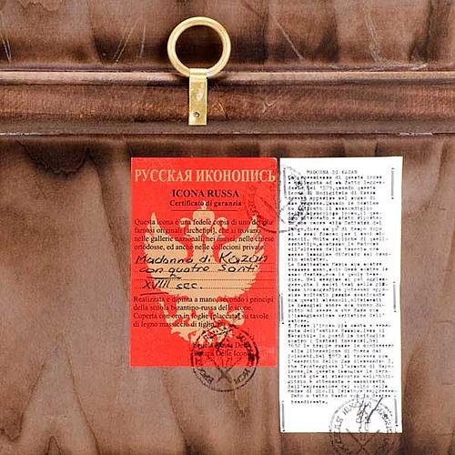 Icona Madre di Dio di Kazan manto rosso e santi 2