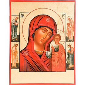 Mother of God of Kazan with four saints s1