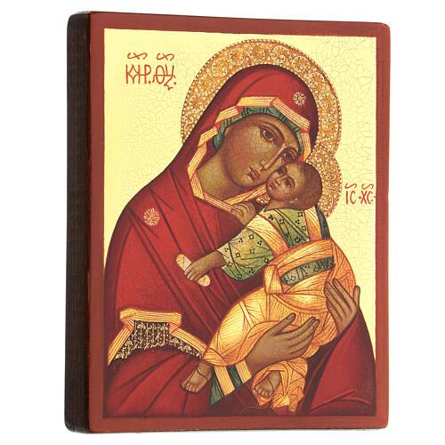 Russische Ikone Gottesmutter der Zärtlichkeit 14x10 cm 3