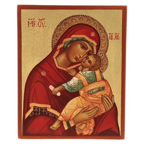 Icône mère de dieu de la tendresse 14x10 cm 1