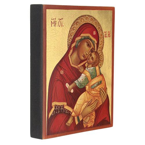 Icône mère de dieu de la tendresse 14x10 cm 3