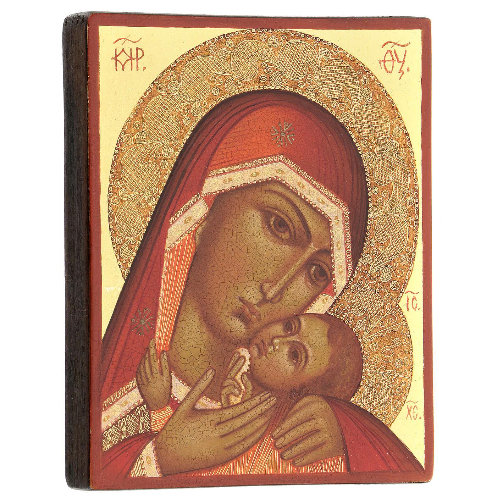 Madre di Dio di Korsun 14x10 cm Russia dipinta 4