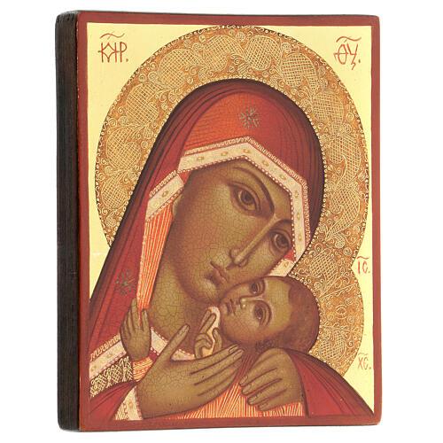 Madre di Dio di Korsun 14x10 cm Russia dipinta 3