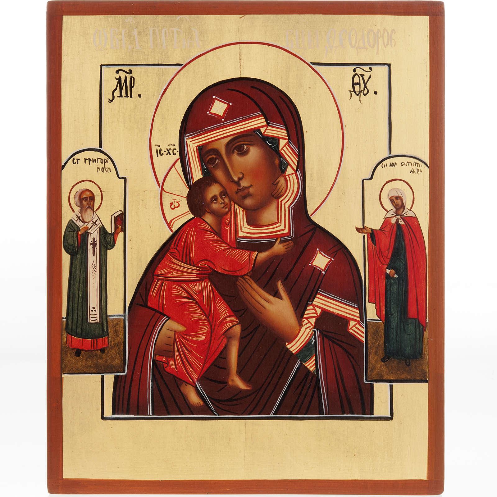 Ícono Madre de Dios de Fiodoor Rusia 4