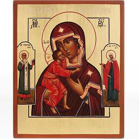 Iconos Pintados Rusia: Ícono Madre de Dios de Fiodoor Rusia