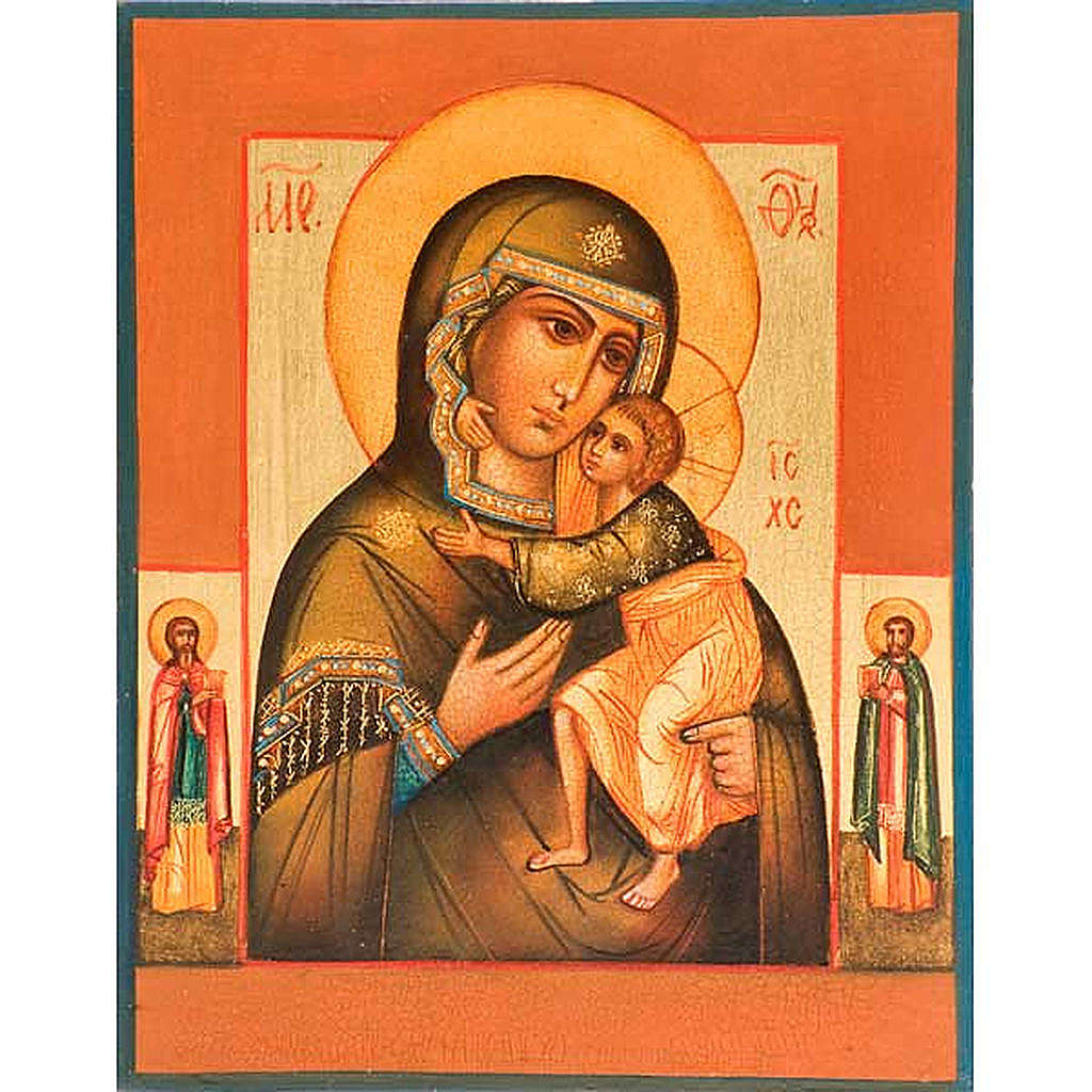 Icone Mère de Dieu de Tolga manteau vert 4